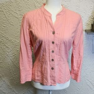 Requirements long sleeve button Medium Pink
